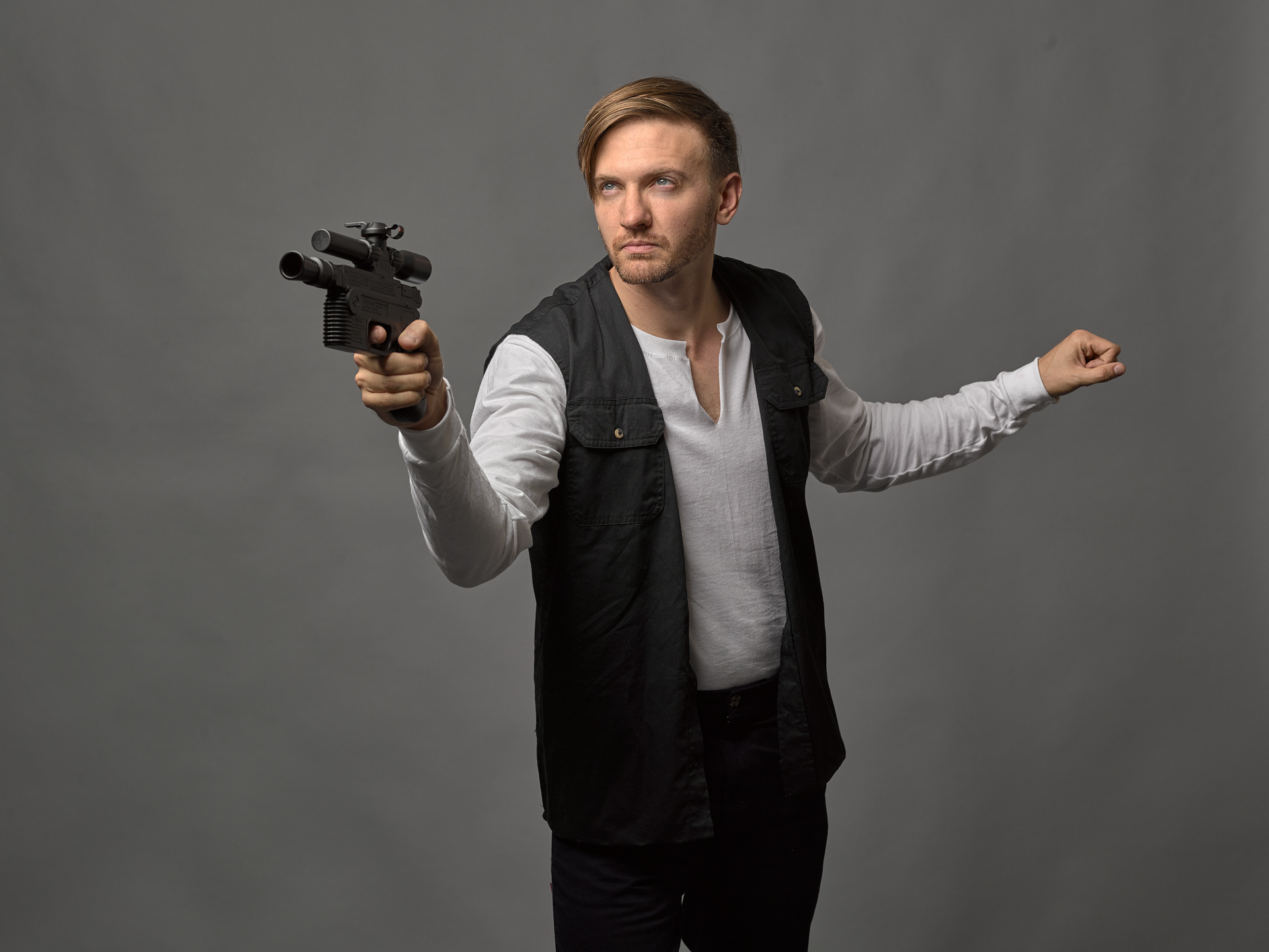 may the 4th be with you han solo costume photo shoot
